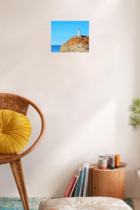 Faro de Cabo de Gata | Pintura de Borja Abós | Compra arte en Flecha.es