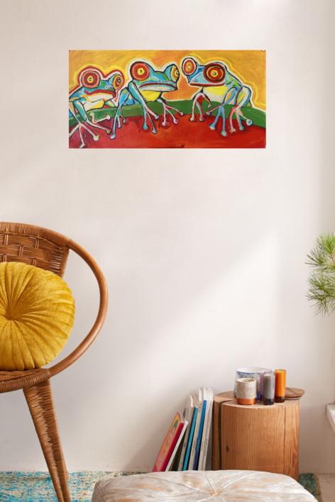 Frog | Pintura de Veo blasco | Compra arte en Flecha.es