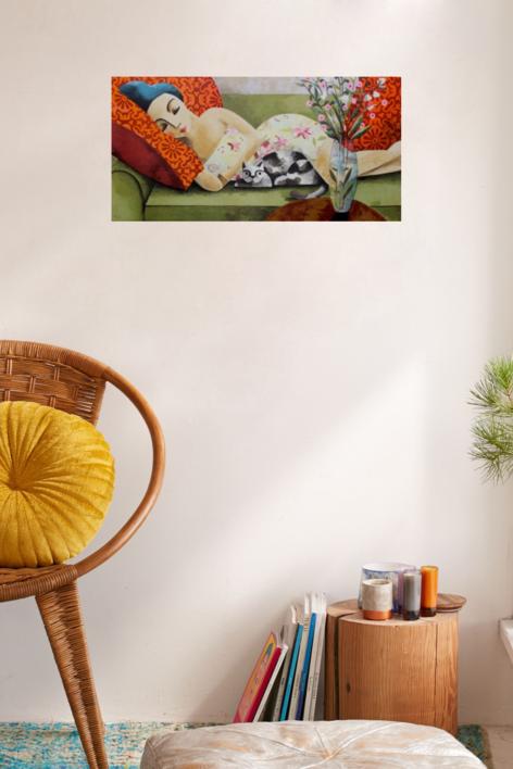 PINK SIESTA | Obra gráfica de Didier Lourenço | Compra arte en Flecha.es