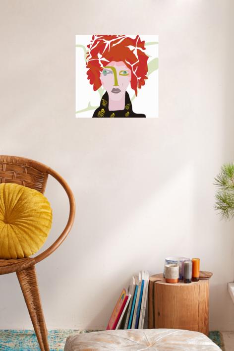 El chico colorado | Dibujo de Mariana sanz POPNTOPMAD | Compra arte en Flecha.es