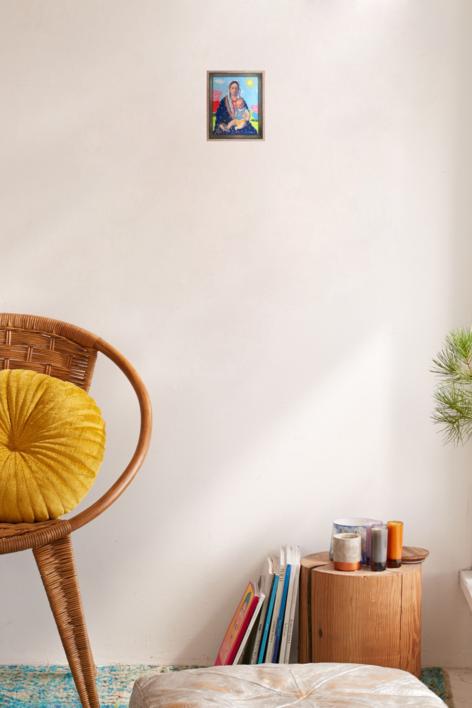 Virgen Guapa para los pequeñitos de la casa | Pintura de Paco Sánchez | Compra arte en Flecha.es