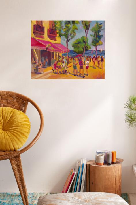 Cervezas y naranjadas | Pintura de José Bautista | Compra arte en Flecha.es