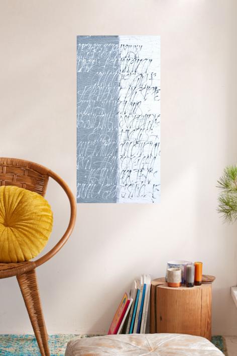 Dualidad en azul | Pintura de Jorge Regueira | Compra arte en Flecha.es