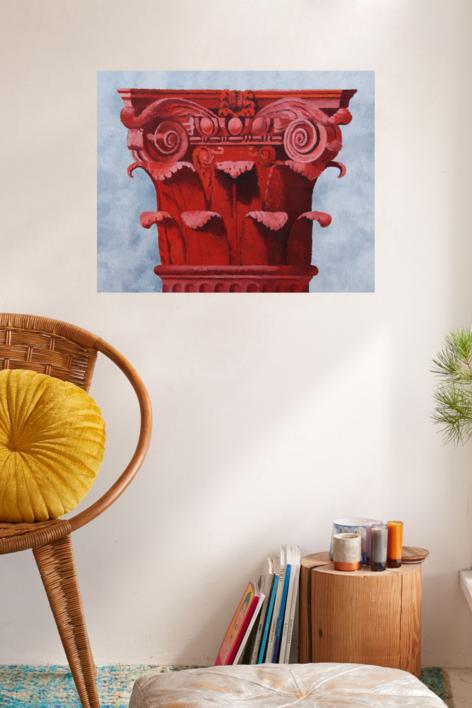 Corintio Rojo II   Pintura de Miguel Ortega Mesa   Compra arte en Flecha.es
