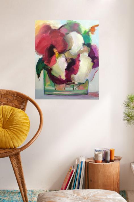 Lugares y Jardines Imaginarios V   Pintura de Teresa Muñoz   Compra arte en Flecha.es