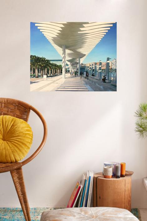 Paseo de Málaga | Pintura de Javier Ramos Julián | Compra arte en Flecha.es