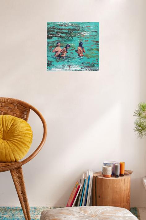 Sirenas | Pintura de Carmen Montero | Compra arte en Flecha.es