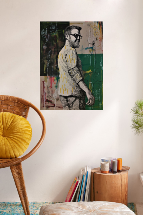 Esos momentos de Apertura (autorretrato) | Collage de Fran Jiménez  (Âli Qasim) | Compra arte en Flecha.es