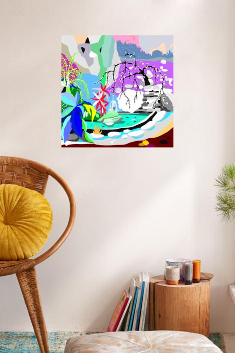 Estanque japonés | Dibujo de ALEJOS | Compra arte en Flecha.es