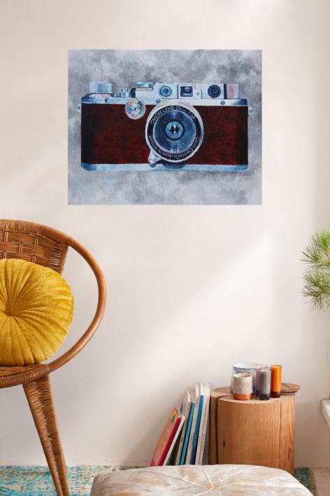 Cámara roja | Pintura de Miguel Ortega Mesa | Compra arte en Flecha.es