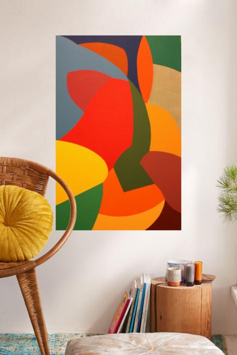 FLOR bis | Pintura de Cinpala | Compra arte en Flecha.es