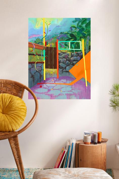 Paisaje Re-leido Nº 4 | Pintura de Benito Salmerón | Compra arte en Flecha.es