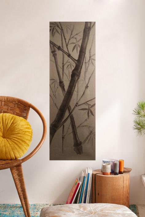 TAPIZ BAMBÚ | Pintura de Verónica Bustamante Loring | Compra arte en Flecha.es