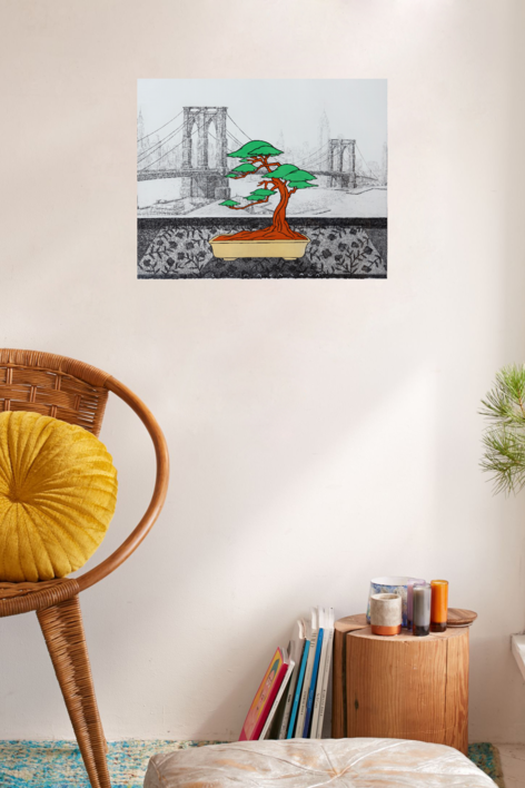 New York dede el Hotel Cumberland | Obra gráfica de Fernando Bellver | Compra arte en Flecha.es