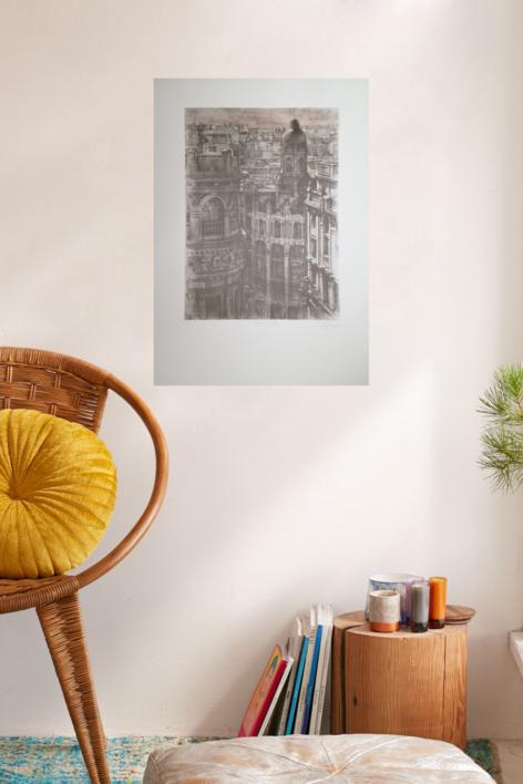 Hotel de Las Letras. Ed. Avant la lettre | Obra gráfica de Luis Javier Gayá | Compra arte en Flecha.es