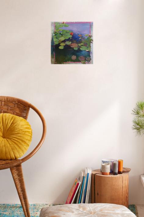 NENÚFARES | Pintura de ÁNGELES CERECEDA | Compra arte en Flecha.es