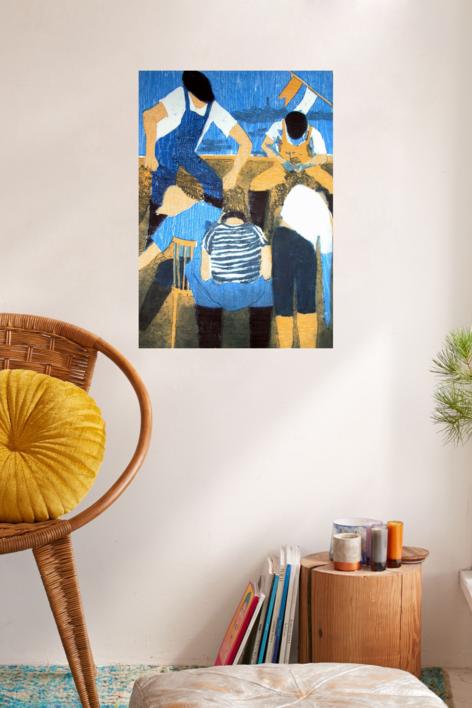 Los pescadores III | Obra gráfica de Jenifer Carey | Compra arte en Flecha.es