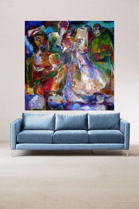 La mirada | Pintura de Javier Paniagua | Compra arte en Flecha.es