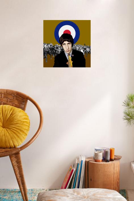 Pete Townshend   Collage de Gabriel Aranguren   Compra arte en Flecha.es
