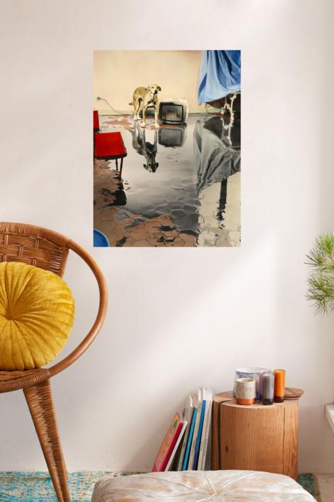 Me levanto por la mañana, hay un gran charco en mi casa   Fotografía de Ouka Leele   Compra arte en Flecha.es