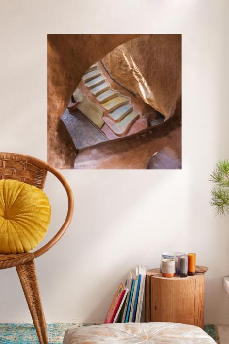 Escalera al centro de la Tierra | Digital de Xisco Fuster | Compra arte en Flecha.es