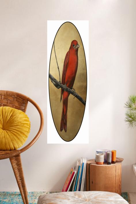 Canario rojo | Dibujo de Enrique González | Compra arte en Flecha.es