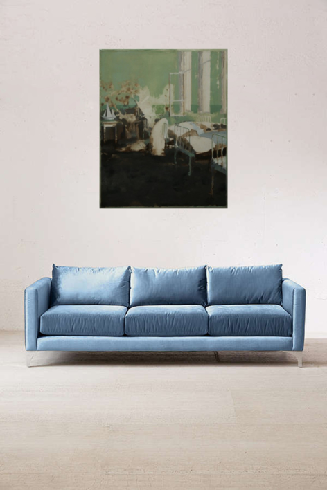 Dormitorio Verde | Pintura de Simon Edmondson | Compra arte en Flecha.es