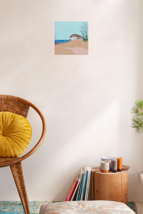 Mar azul | Collage de Eduardo Query | Compra arte en Flecha.es