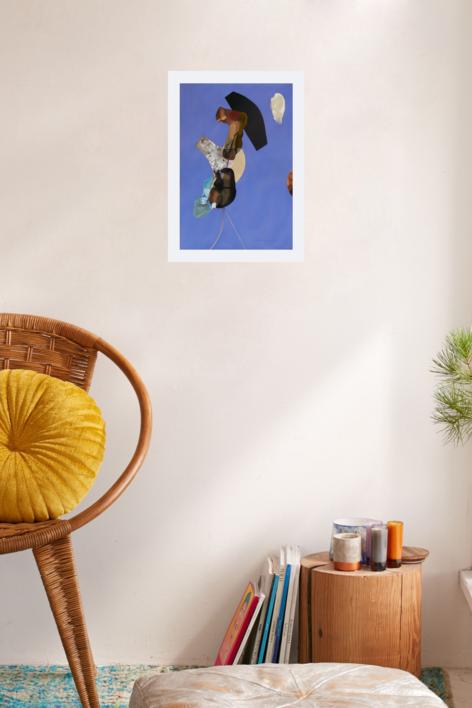 Balerina.  Serie de figuras abstractas (2)   Collage de Raul Eberhard   Compra arte en Flecha.es