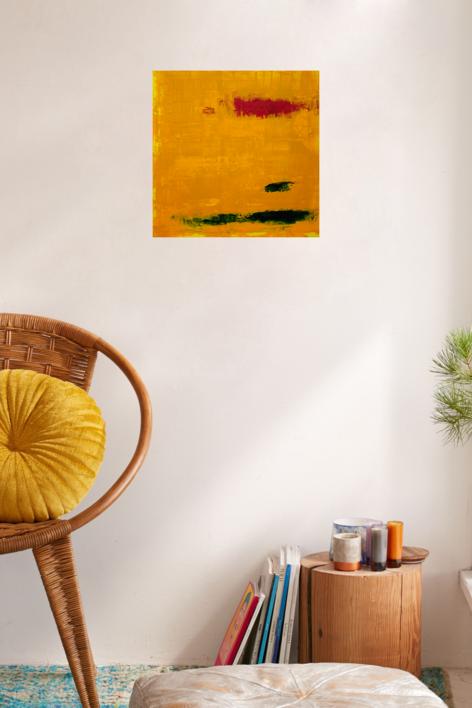 Ras46-Amarillo arena | Collage de Jorge Font | Compra arte en Flecha.es