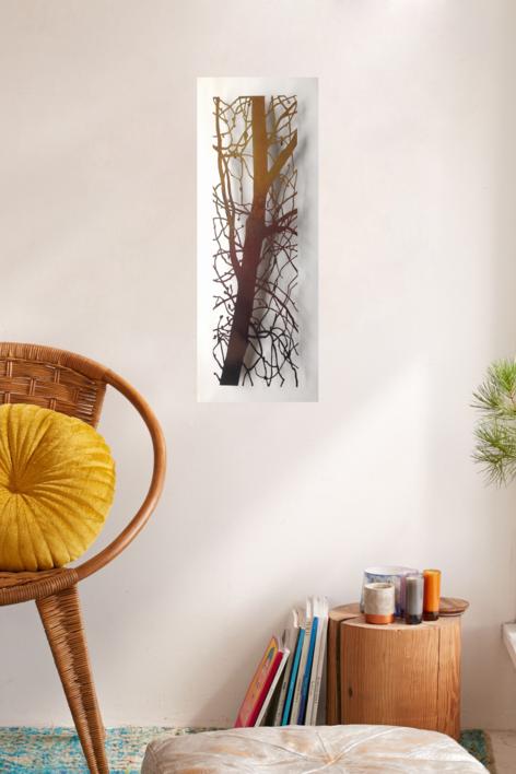 Árbol vertical | Escultura de pared de Charlotte Adde | Compra arte en Flecha.es