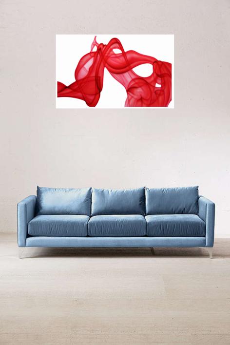 Red Smoke | Pintura de NASEL | Compra arte en Flecha.es