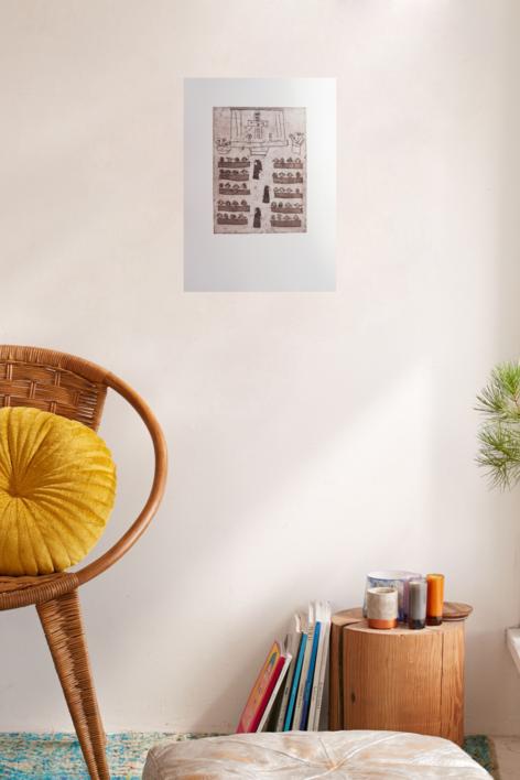 La iglesia | Obra gráfica de Ana Valenciano | Compra arte en Flecha.es