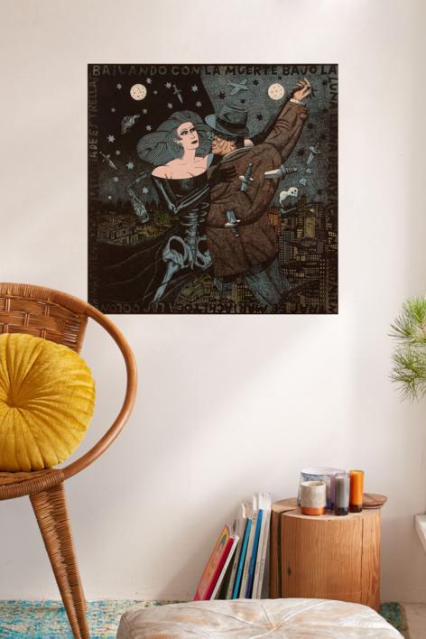 Bailando con la muerte | Obra gráfica de Fernando Bellver | Compra arte en Flecha.es