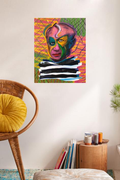 Pablo Picasso (Pink) | Pintura de Silvio Alino | Compra arte en Flecha.es