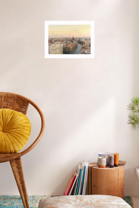 Madrid desde Torres Blancas | Obra gráfica de Antonio López | Compra arte en Flecha.es