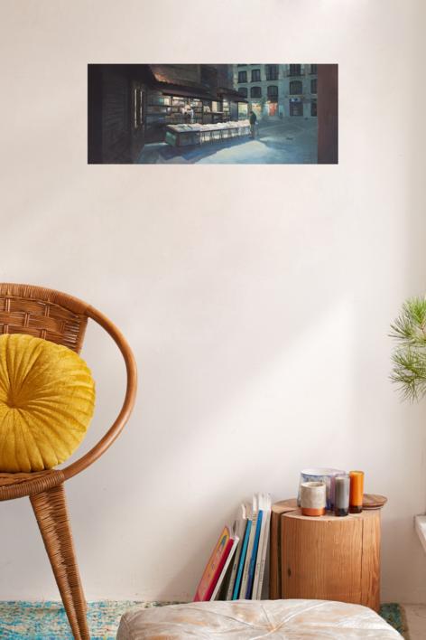 La librería San Ginés | Pintura de Orrite | Compra arte en Flecha.es