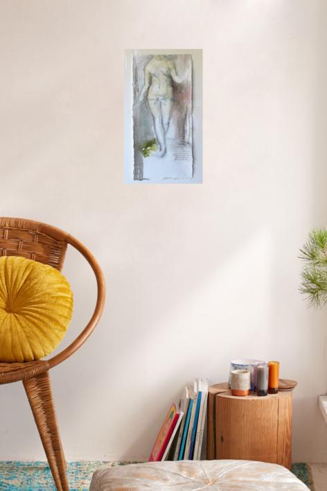 """""""Eva en el paraiso""""   Dibujo de Carmen Roger   Compra arte en Flecha.es"""