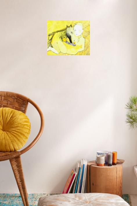 Chorar un lagarto | Dibujo de Reme Remedios | Compra arte en Flecha.es