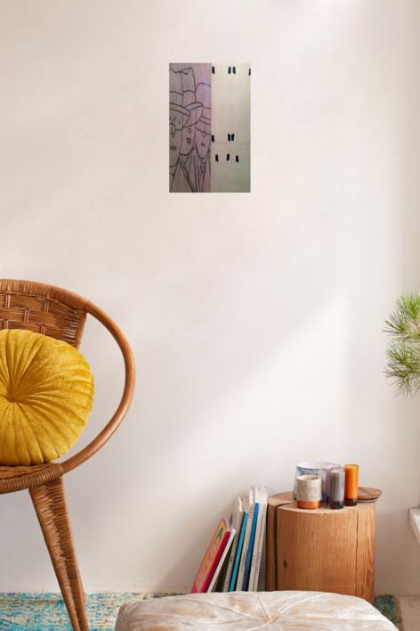 Brelan | Dibujo de Eduardo Arroyo | Compra arte en Flecha.es