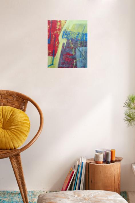 S / T      Serie:   TEXTURAS DE COLOR   Ref.  127 | Pintura de Patxo  Cruceta | Compra arte en Flecha.es