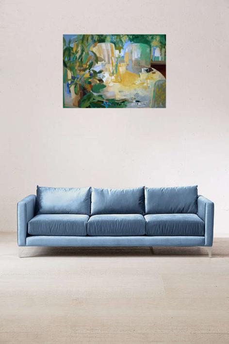 Mesa con sillas   Pintura de Carolina Veramendi B   Compra arte en Flecha.es