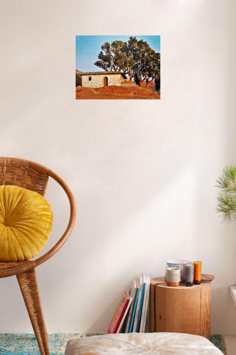 Cabaña y alcornoque | Pintura de Fran Jiménez  (Âli Qasim) | Compra arte en Flecha.es
