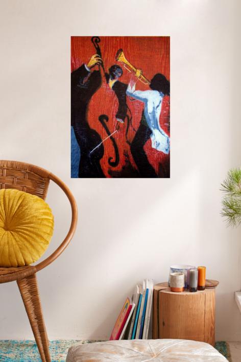 Jazz dueto II | Obra gráfica de Jenifer Carey | Compra arte en Flecha.es