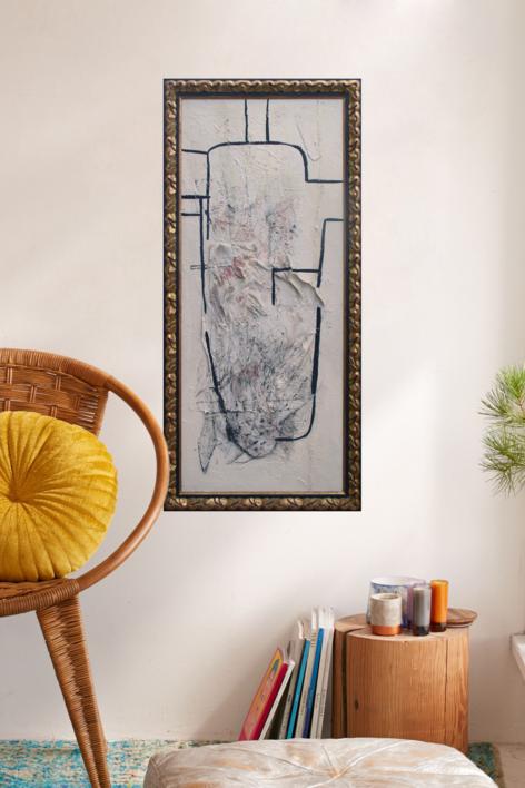 Una figura para Torres García | Collage de Raul Eberhard | Compra arte en Flecha.es