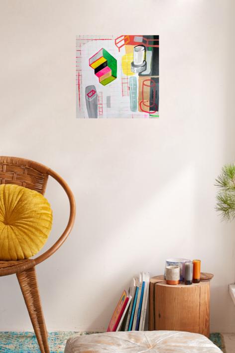 Escaleras para bajar al origen | Pintura de Ángel Celada | Compra arte en Flecha.es