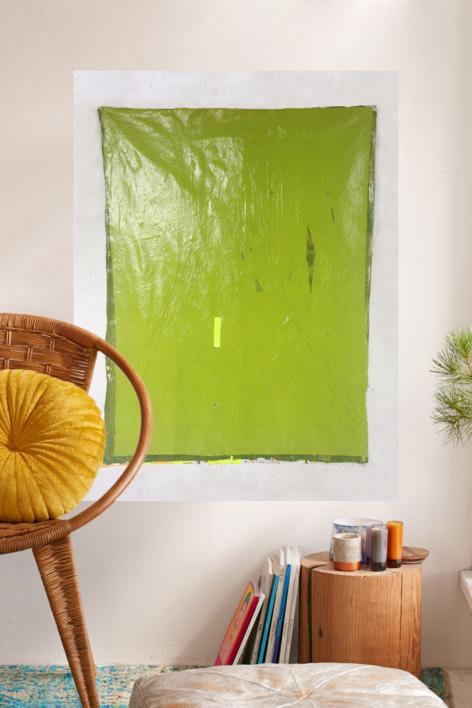 Green Folds | Pintura de María Magdaleno | Compra arte en Flecha.es