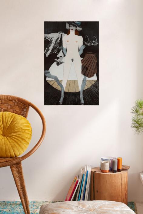 Serie Desnudos VII   Obra gráfica de Fernando Bellver   Compra arte en Flecha.es