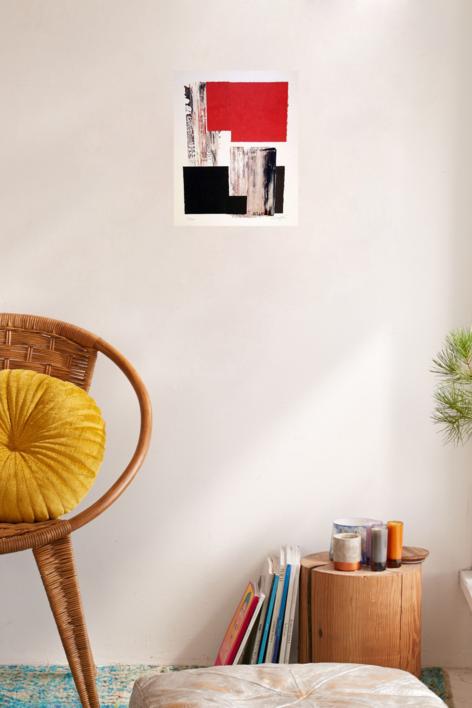 Sin título   Collage de Rafael Canogar   Compra arte en Flecha.es
