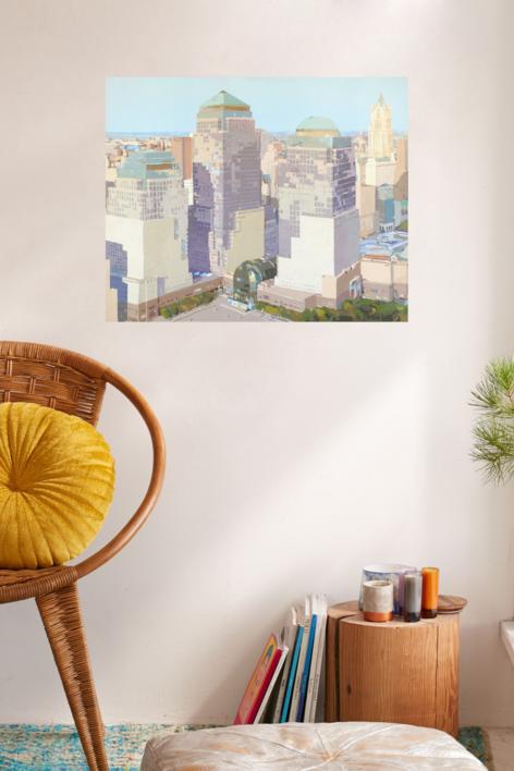 World Trade Center II | Pintura de Javier AOIZ ORDUNA | Compra arte en Flecha.es